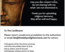 The Happy Buddhist Card