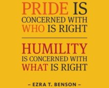 Humility: Wandering Thought #247
