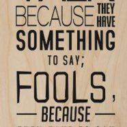 Foolishness: Super Short Story #499
